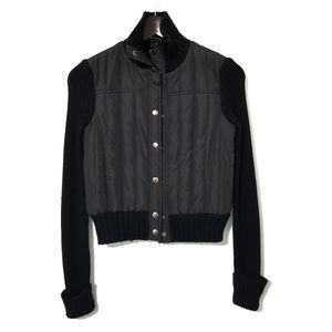 BCBGMAXAZRIA Puffer & Wool Jacket